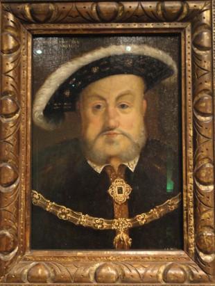 Портрет Генриха VIII. Написан около 1536-37 придворным художником Гансом Гольбейном